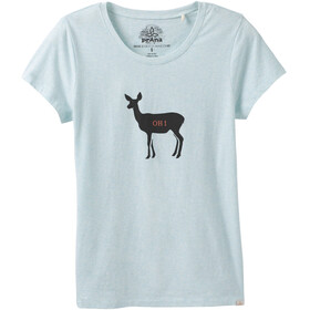 Prana Graphic Tee Women Aqua Deer